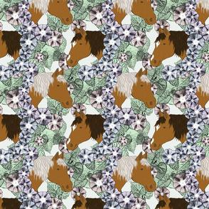 Floral Horse portraits 8