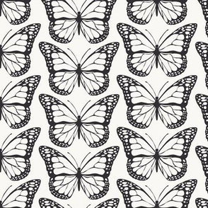 Monarch Butterlies - Black & White