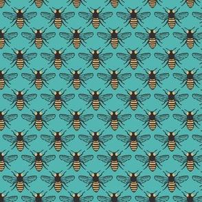 Honeybees - Turquoise