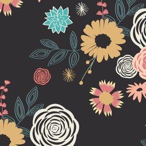 Floral Mix -Black