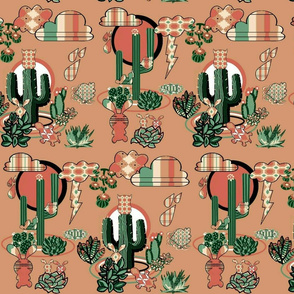 Abstract Desert Succulents