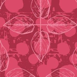 Crossed Leaves - red