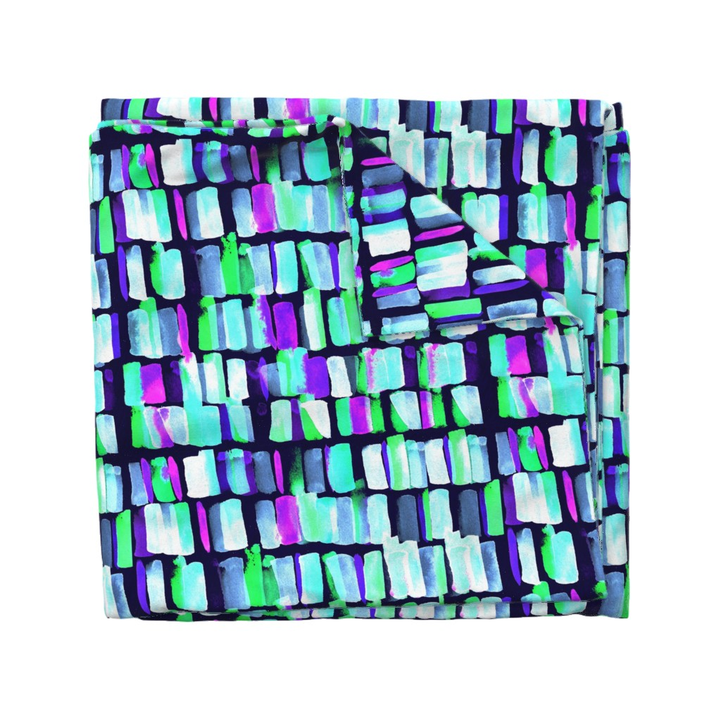 Wyandotte Duvet Cover featuring watercolor_multi_cyan by amber_apel