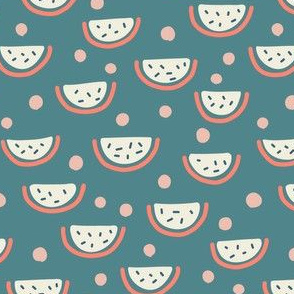 Watermelon Slices - blue