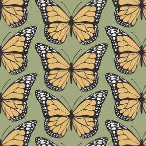 Monarch Butterflies - Green