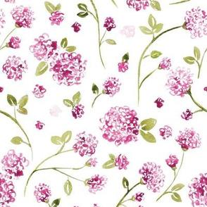 Magenta Watercolor Wildflower
