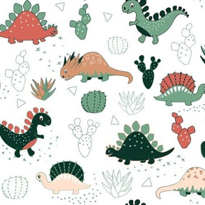 Succulents Dinos (large scale)