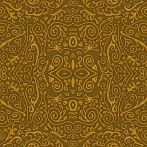 bridal mendhi - gold