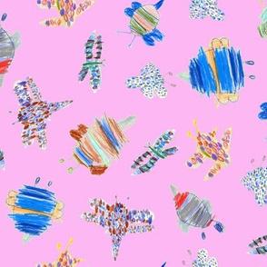 Bubbie's bugs on bubblegum pink