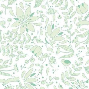 Folk Forest - Mint // by Sweet Melody Designs