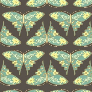 Folk Butterfly - Brown & Turquoise