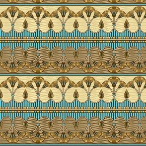 Egyptian ornate lily border