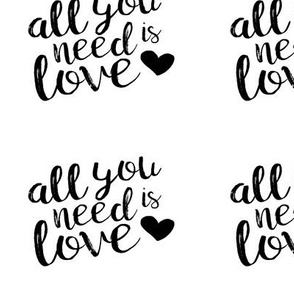 "5.5""x4.5"" panel - all you need is love"