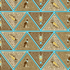 Egyptian pyramid maze blue