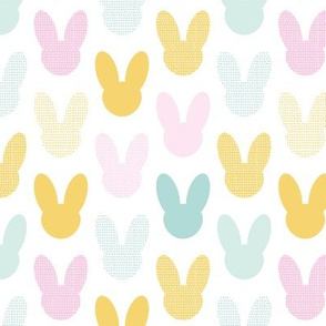 Happy easter bunny colorful rabbit ears kids spring design