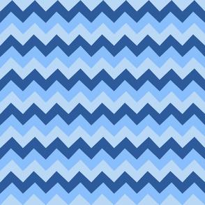 Collared portrait chevron coordinate - blue