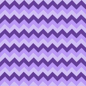 Collared portrait chevron coordinate - purple