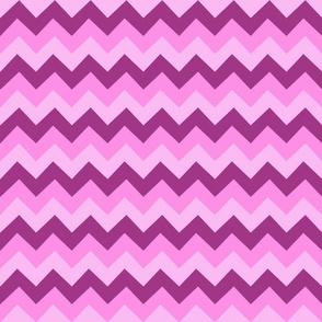 Collared portrait chevron coordinate - pink