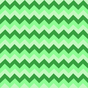Collared portrait chevron coordinate - green