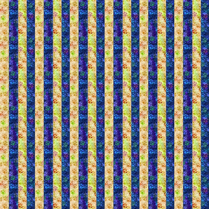 Cosmic dog paw prints vertical stripes - night and day
