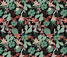 Succulent Garden - Black