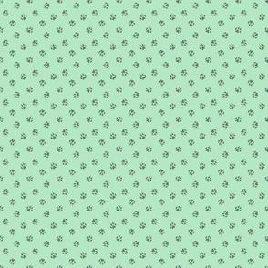 Tiny dog paw prints coordinate - green