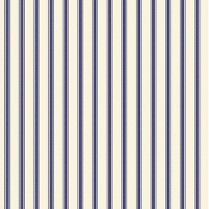 Modern Ticking Stripe-navy/off white