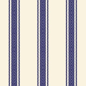 Modern French Ticking Stripe-navy/off white -Med / Grain-Feed-sack