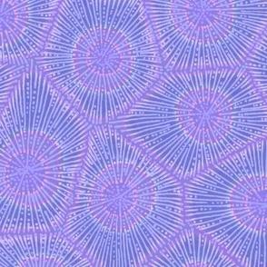 coral pattern in purple