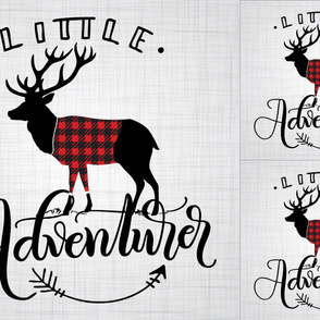 2 loveys - 1 blanket - Little Adventurer - Full Deer - Buffalo plaid