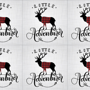 6 loveys - Little adventurer - Full dear - buffalo plaid