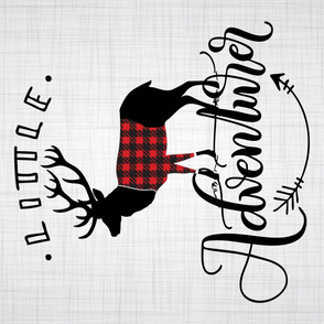 "Full yard (54"" wide) - Little adventurer - full dear - buffalo plaid"