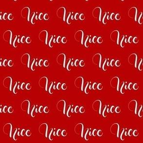 Nice - Red - Christmas