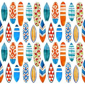Watercolor surfboards