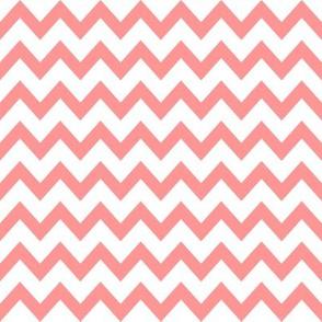 coral chevron fabric
