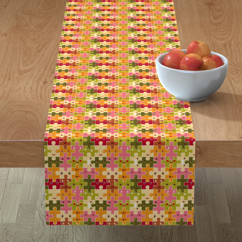 Minorca Table Runner featuring Funny puzzles by verycherry
