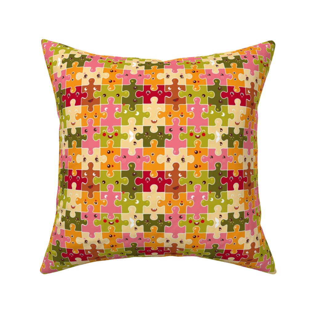 Catalan Throw Pillow featuring Funny puzzles by verycherry