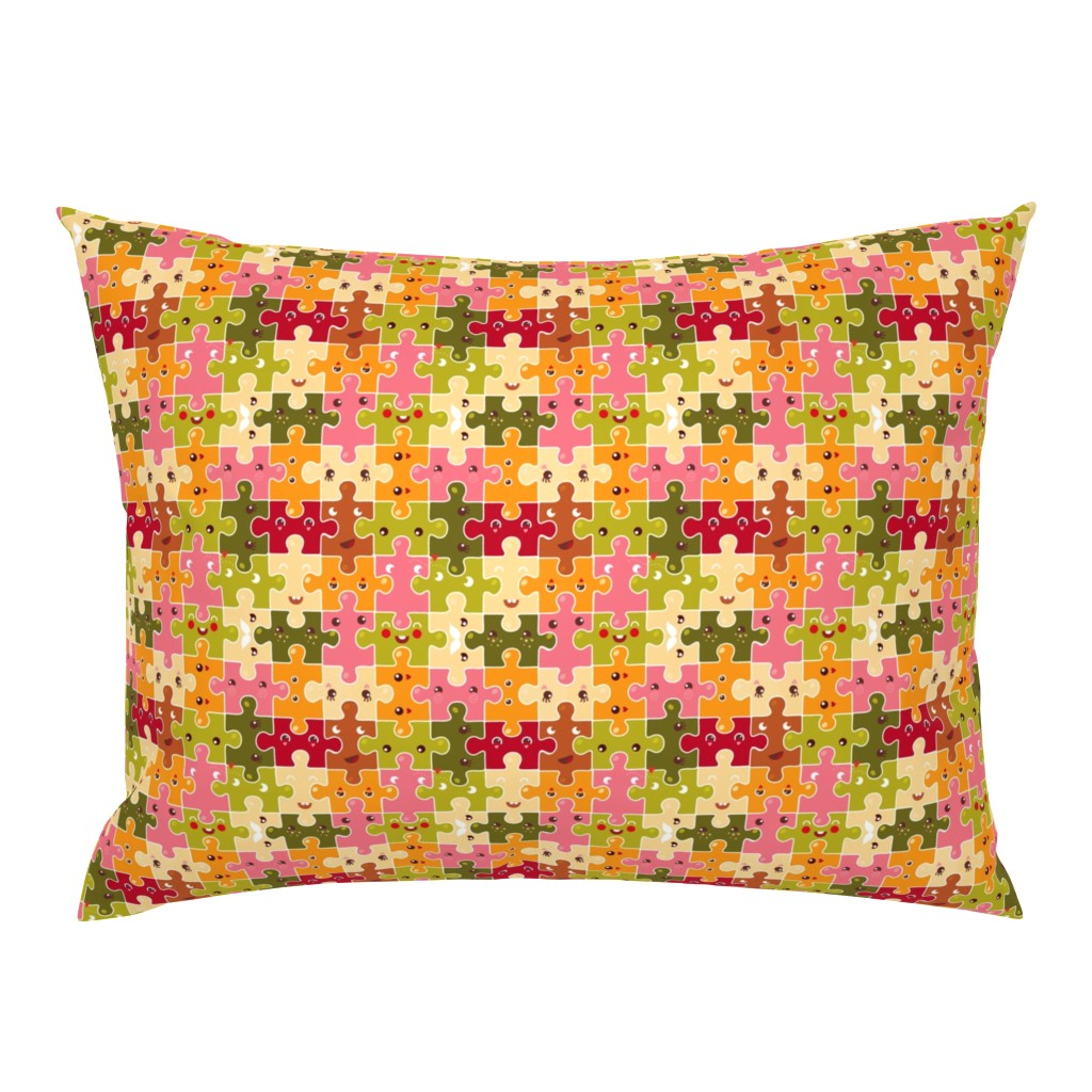 Campine Pillow Sham featuring Funny puzzles by verycherry