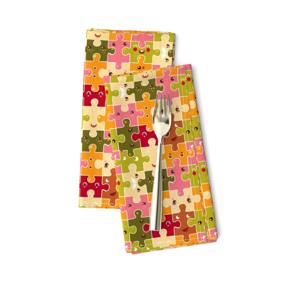Amarela Dinner Napkins featuring Funny puzzles by verycherry