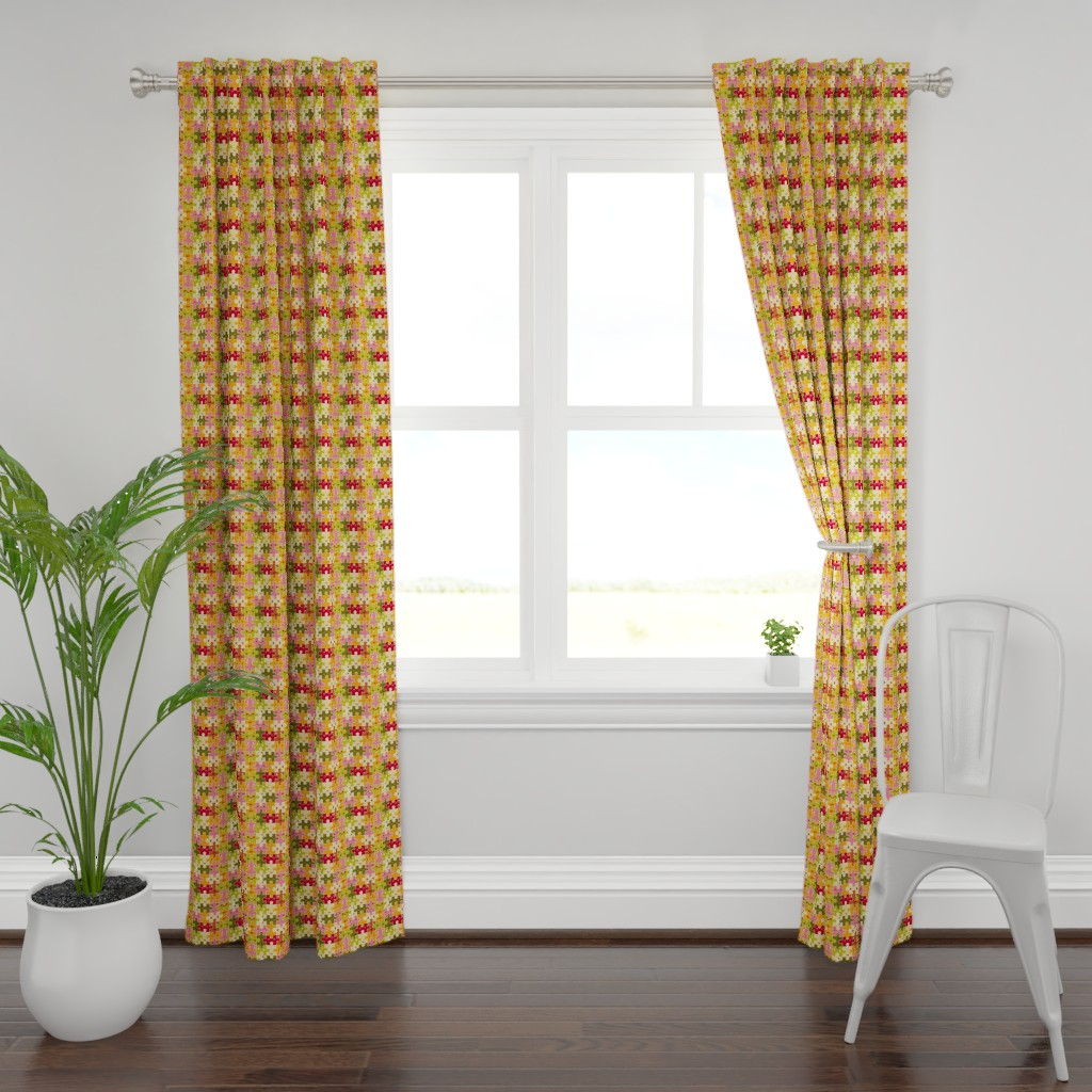 Plymouth Curtain Panel featuring Funny puzzles by verycherry