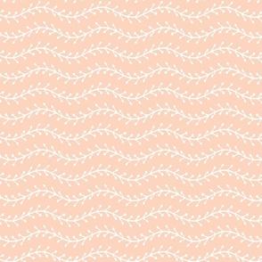 Fishbone Wiggles White Apricot