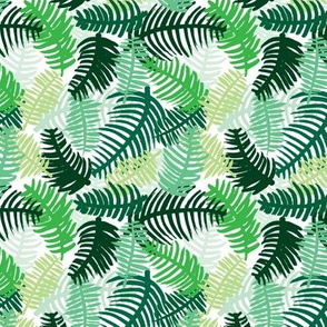 Green tropical hawaiian summer garden brazil plants and palm leaves green SMALL