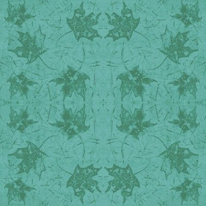 Maple Leaf Turquoise Green