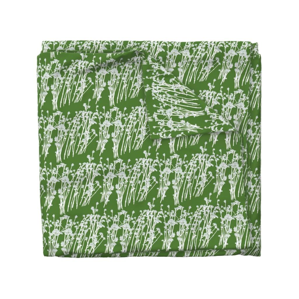 Wyandotte Duvet Cover featuring desert blooms - grass by cinneworthington