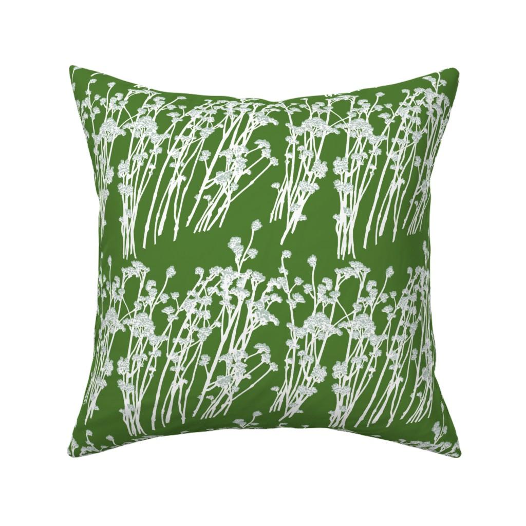 Catalan Throw Pillow featuring desert blooms - grass by cinneworthington