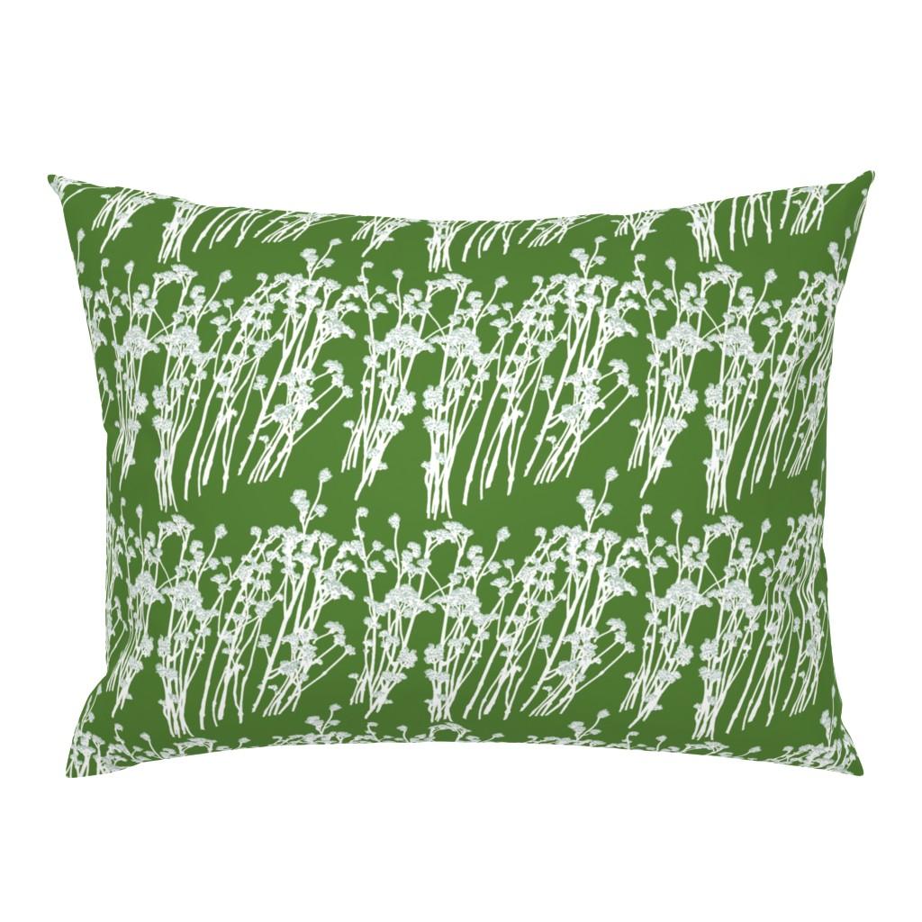 Campine Pillow Sham featuring desert blooms - grass by cinneworthington