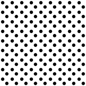 polka dots MEDIUM 2x2  - white black