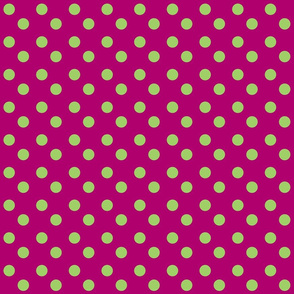 polka dots MEDIUM 2x2 - plumberry lime