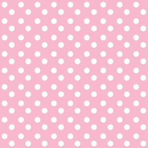 polka dots MEDIUM 2x2 - pinky white