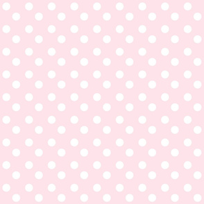 polka dots MEDIUM 2x2 -baby pink white